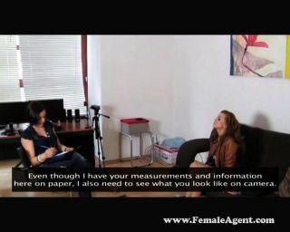 Lustful Redhead Orgasm Hard For Brunette Agent