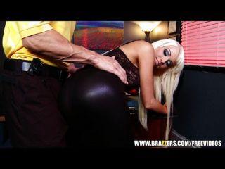 Blonde Slut Rikki Six Is Caught Spanked
