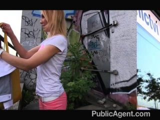 Publicagent - She Gets Spit-roasted Outdoors