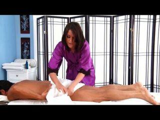 image Gorgeous brunette amiee cambridge massage and blowjob