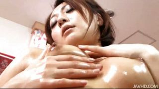 Yuu Shiraishi Oiled Up And Playing With Her Twat