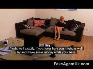 Fakeagentuk - Anal Casting Smoking Hot Babe