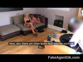 Fakeagentuk - Beautiful Blonde Milf Blowjob