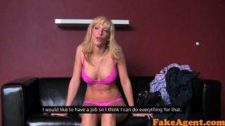 Fakeagent Sexy Blonde Babe Takes Creampie