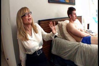 Busy Blonde Milf In Stockings