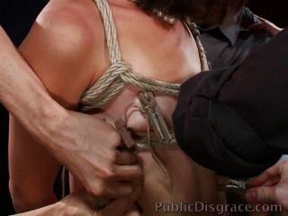 Babe Used Up And Fucked In A Crowd