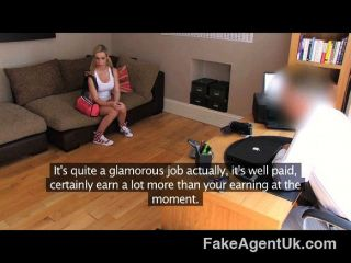 Cute Big Tit Blonde Gets Eyes Glued Shut