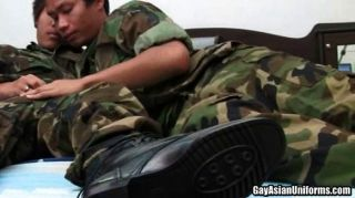 Two Hot Soldiers Sucking Dick