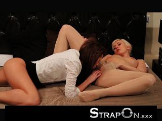 Strapon - Blonde And Brunette Making Love