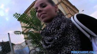 Publicagent - Sexy Brunette Take Cash For Sex