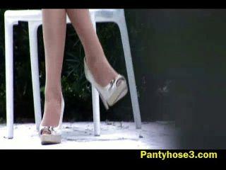 Hidden Camera On Long Legged Beauty