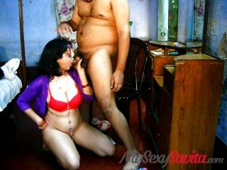 Indian Savita Bhabhi Homemade Blowjob