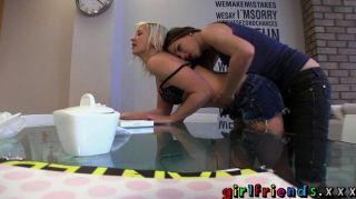 Girlfriends - Blonde And Brunette Lezzie Porn