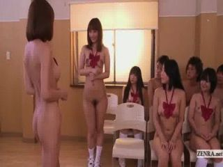 Subtitled Uncensored Japanese Nudist School Club Orgy