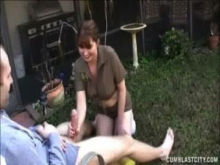 Naughty Milf Splattered With Jizz