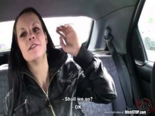 Bitch Stop - Pretty Brunette Picked Up In Car Park