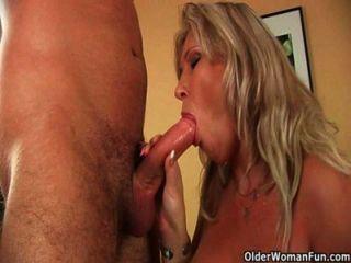 Big Mature Tits Get A Cum Glazing
