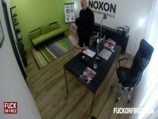 Slutty Blonde Fucking To Keep Her Job