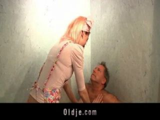Horny Hotel Maid Fucks An Oldman Customer