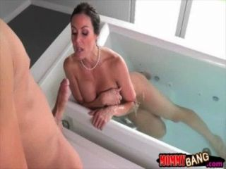 Hot Stepmom Kendra Lust Fucking With Teen Couple On The Bed