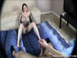 Hot Brunette Gets Cumblasted