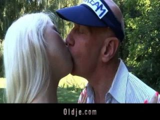 Bald Oldman Pumps A Busty Horny Young Babe