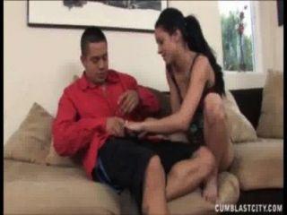 Super Hot Brunette Babe Handjob