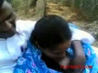 Desi Girlfriend Boobs Press At Park