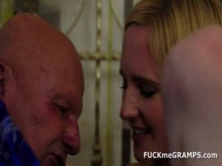Horny Old Grandpa Does Teen Chick