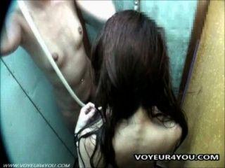 Hidden Camera In The Shower Room