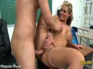 Blonde Phoenix Marie Gets Ass Fucked