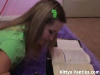 Nubile 18yo Kitty Doing Her Science Homework