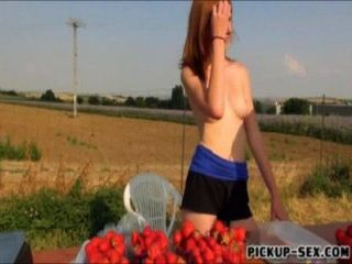 Amateur Redhead Eurobabe Linda Sweet Fucked In Public