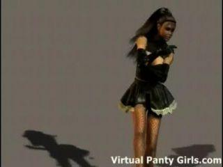 3d Cyberpunk Hottie Teasing In Panties