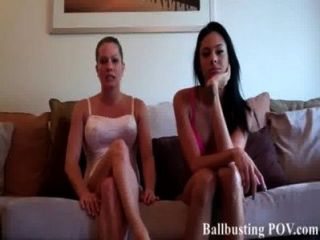 Two Bitches Smashing Your Balls Repeatedly