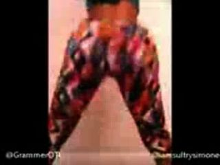 Big Booty Sultry Simone Ass Shaking Clapping Donk Twerk Twerking Dancing Hi 73304