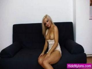 Super Blond-haired Jenna Awesome Extreme Nylon Fetish