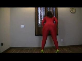 Pawg Twerks In All Spandex Catsuit
