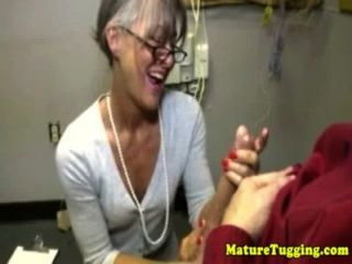 Granny Mature Massages Dick