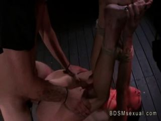 Tied Up With Rough Rope Babe Fucked By Her Master