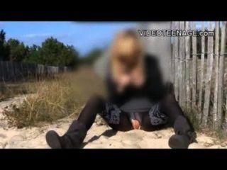 Blonde Teen Amandine First Video Casting