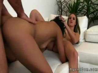 Fake Aganet With Huge Dick Fucks Two Amateurs