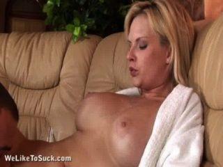 Horny Blonde Enjoys Sex