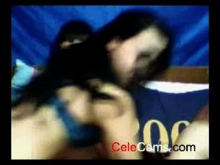 Amateur College Threesome On Webcam