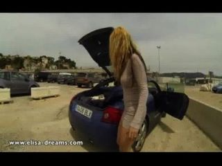 Flashing Nude In A Public Parking