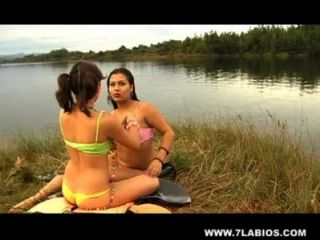 Lesbian Latinas In The Lake