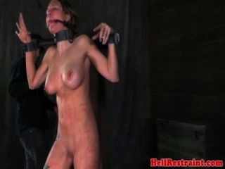 Big Boobed Bondage Fetish Sub Whipped