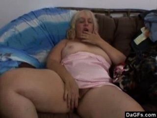 Bbw Ugly Bitch Masturbates On A Couch