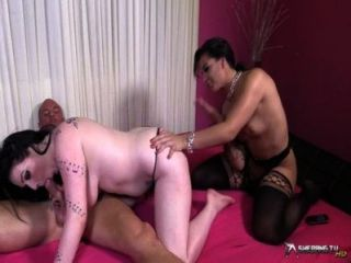 Two Beautiful Brunettes In A Hot Threesome