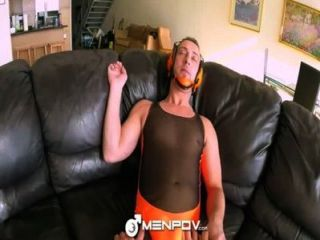Hd Menpov Couple Put On Their Wrestlers Outfit For A Cock Fight